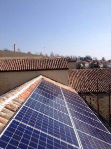 pannelli fotovoltaico sul tetto elettrosistemi