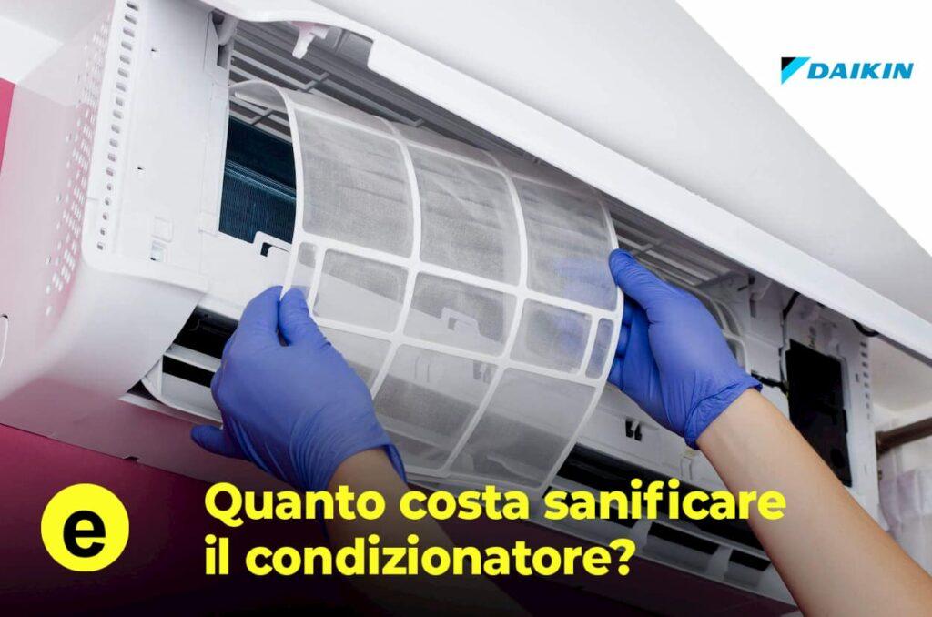 quanto costa sanificare il condizionatore