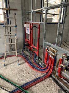 impianti idrici e termici con struttura portante tece