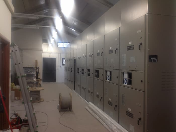 Impianto elettrico stazione di smistamento linee enel