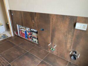 impianto di riscaldamento collettore idrico e termico