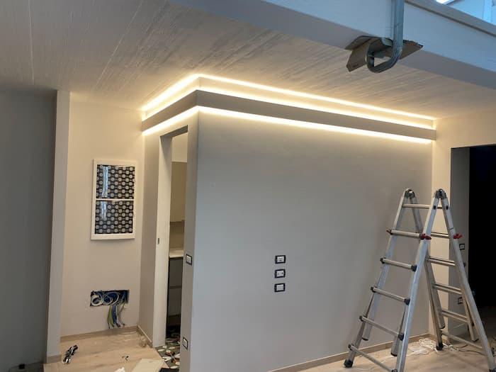 impianto elettrico illuminazione a led